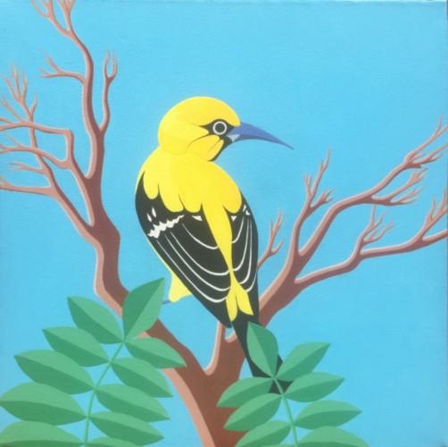 Bonaire schilderij: Trupial kachó 4