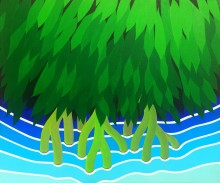 Bonaire schilderij: Mangrove (3)