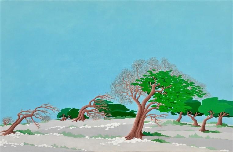 Bonaire schilderij: Seru largu