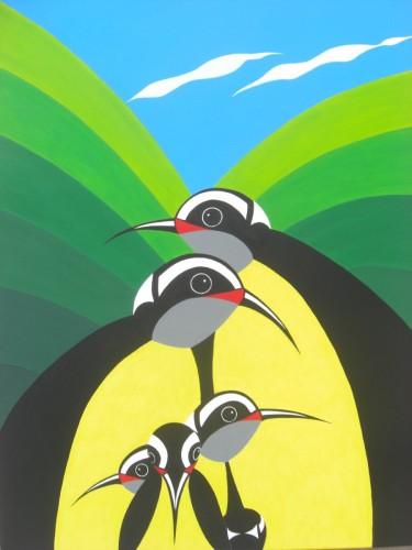 Bonaire schilderij: Barika hel (2)