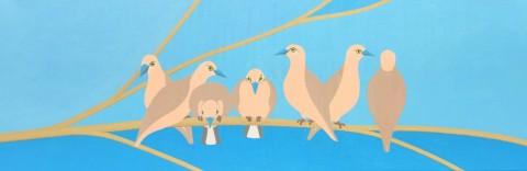Bonaire schilderij: Duifjes