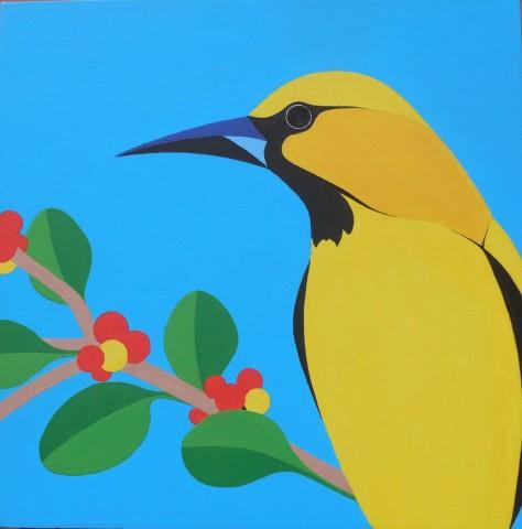 Bonaire schilderij Trupial kacho