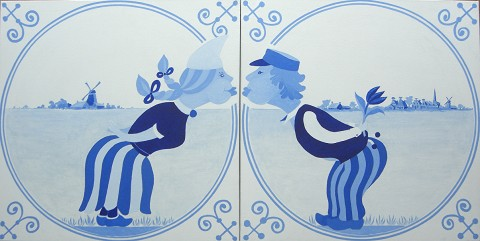 Overige schilderijen: Delft blue 1