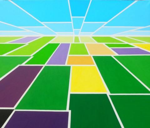 Nederlands landschap schilderij: Stadia
