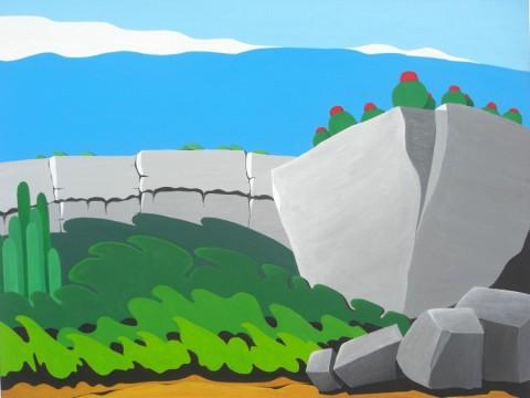 Bonaire schilderij: Oude kust (1)