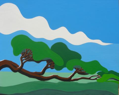 Bonaire schilderij: Waaiboom (2)