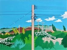 Bonaire schilderij: zicht op Seru Largu